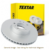 LR038934 92283205 Textar Premium Single Front Brake Disc